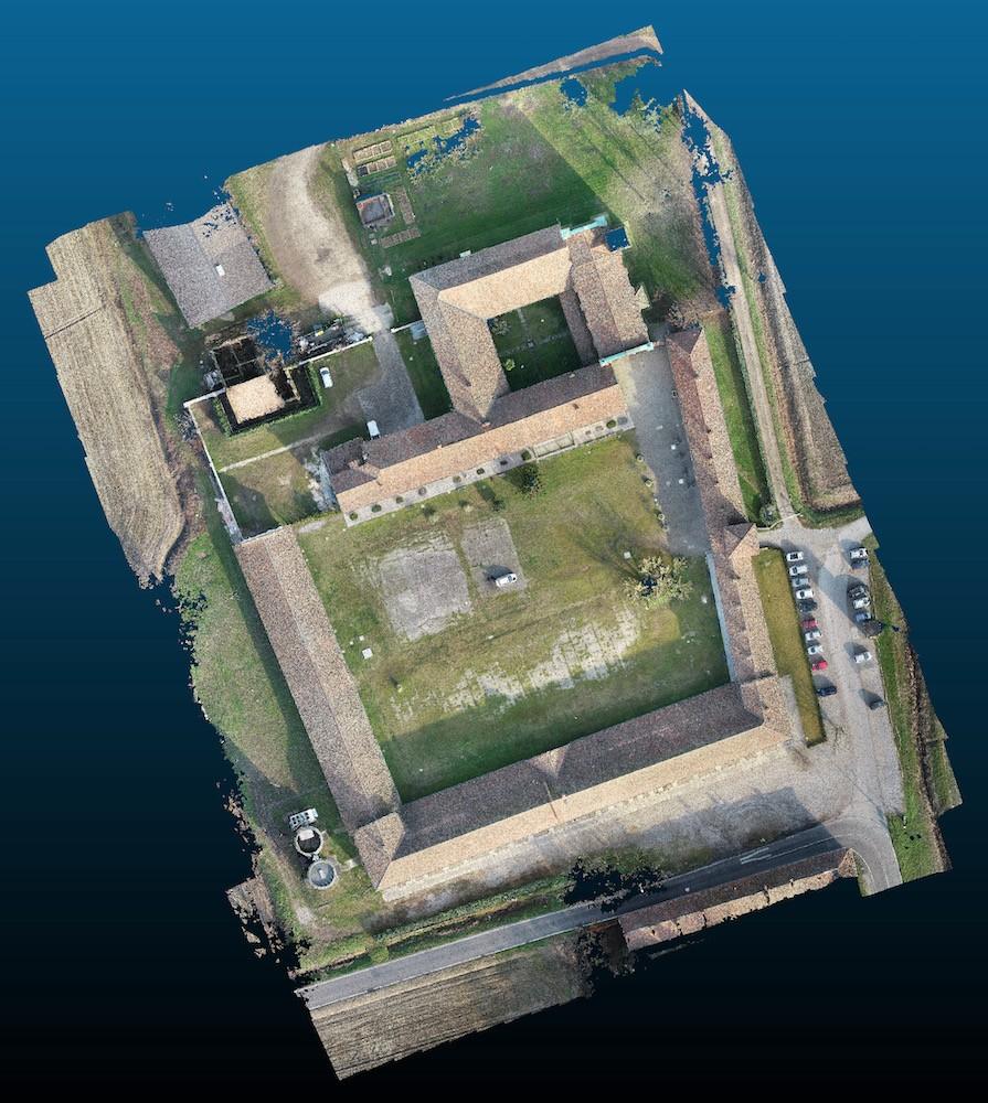 Rilievo 3D degli antici tetti dell'Abbazia di Mirasole