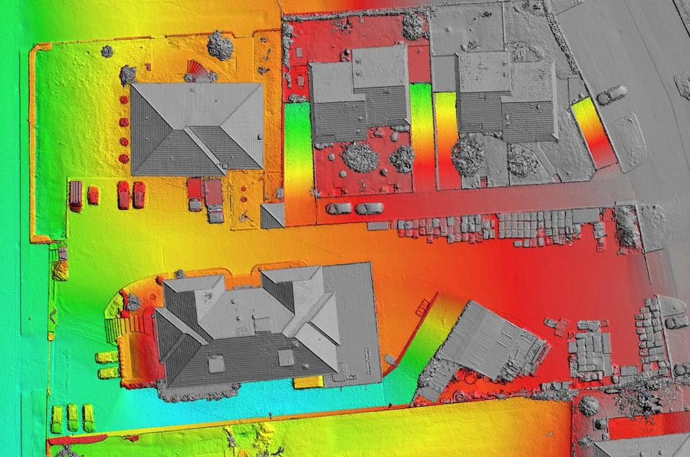 Digital Surface Model (DSM) realizzato con Drone e GNSS