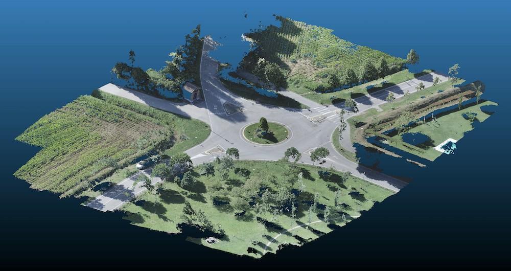 Rilievo Topografico di una Strada con Drone