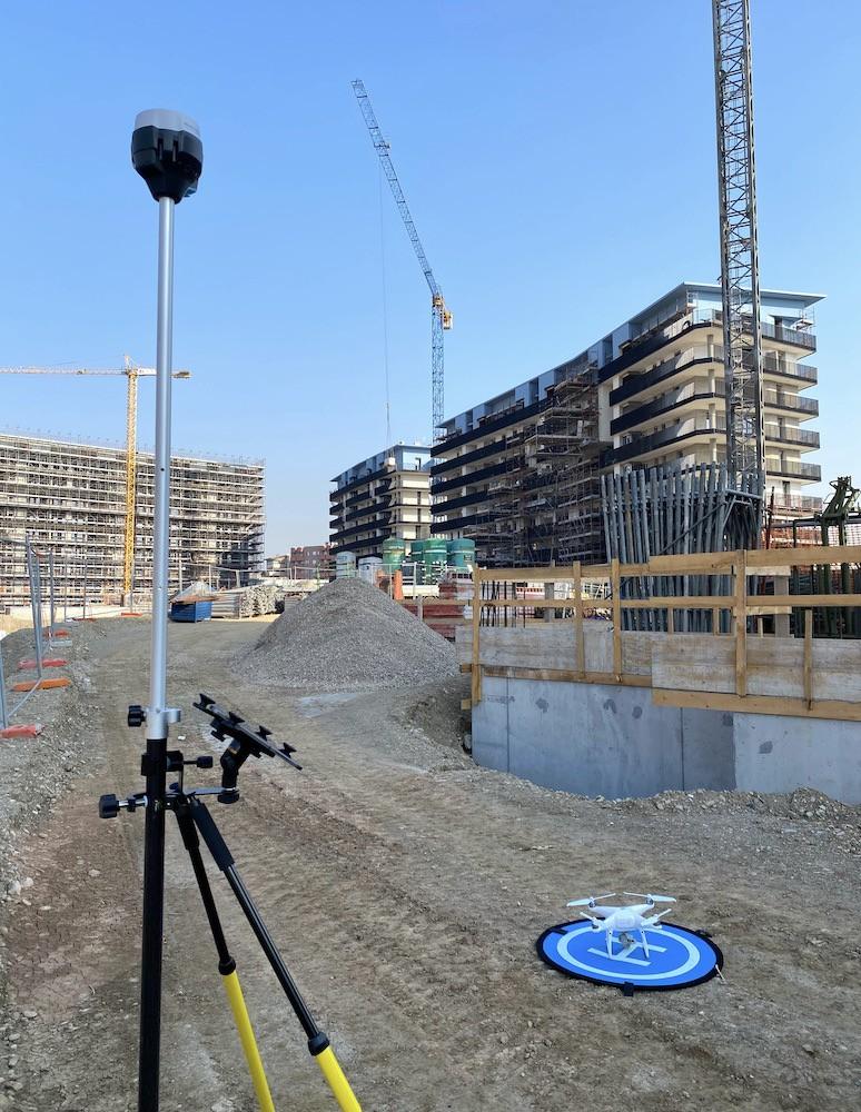 Rilievo su un Cantiere Edile con GNSS e Drone