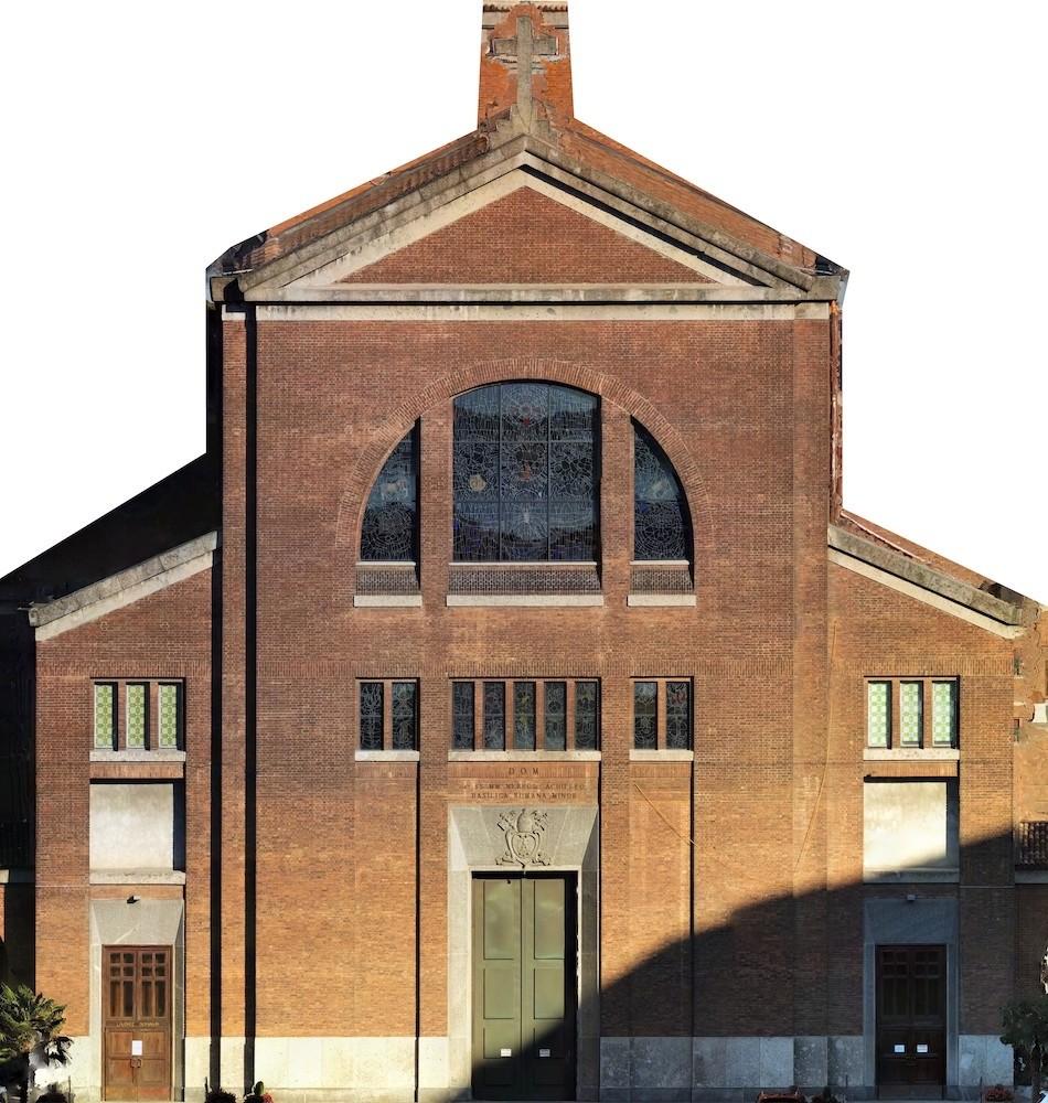 Rilievo con Drone della Basilica Santi Nereo e Achilleo (Milano)