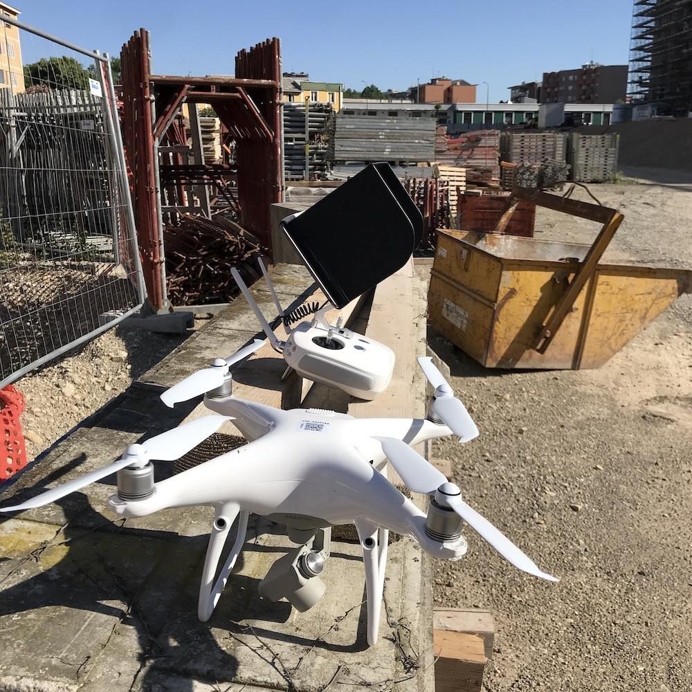 Rilievo con Drone in un Cantiere di Milano