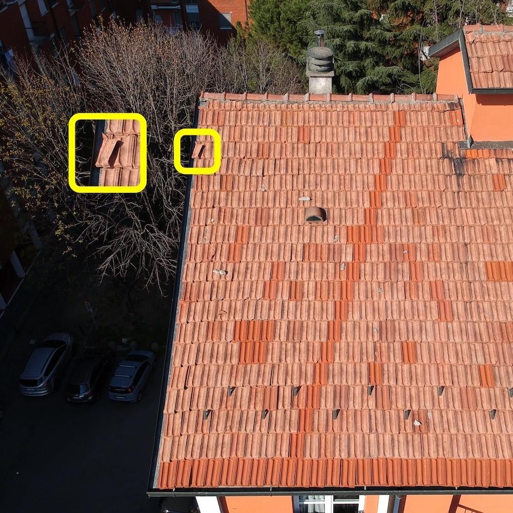 Controllo Periodico con Drone del Tetto e delle Tegole Condominiali