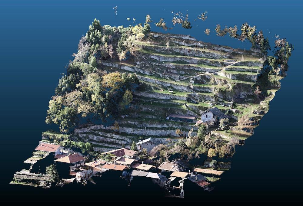 Rilievo di Terreno e Terrazzamenti tramite Drone