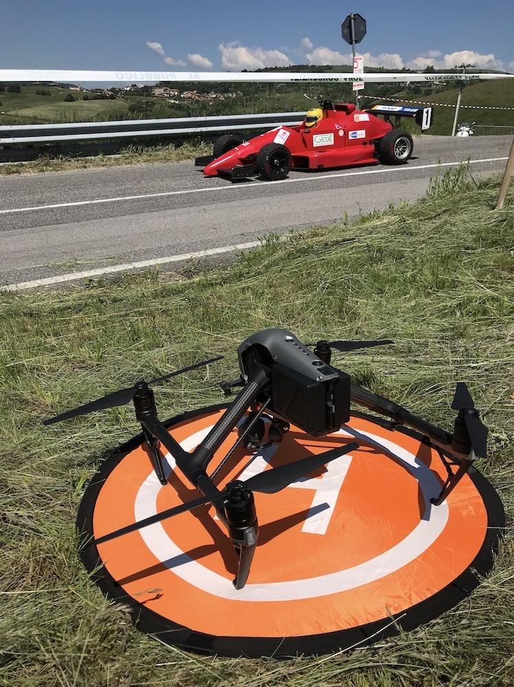 Riprese Aeree con Drone di una Gara Automobilistica