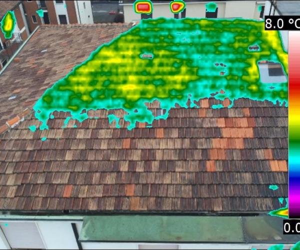 Analisi Termografica della Dispersione Termica di un Tetto, con Drone e Termocamera