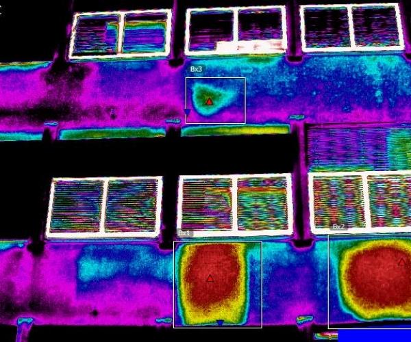 Distacchi Facciata Condominio trovati con Drone e Termocamera
