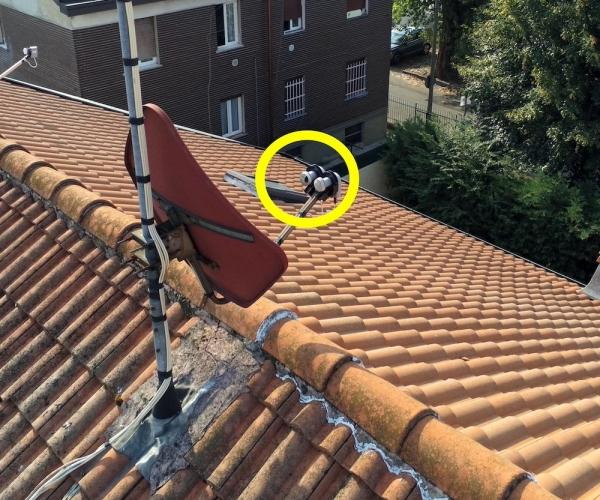Ispezione Antenna Satellitare con Drone