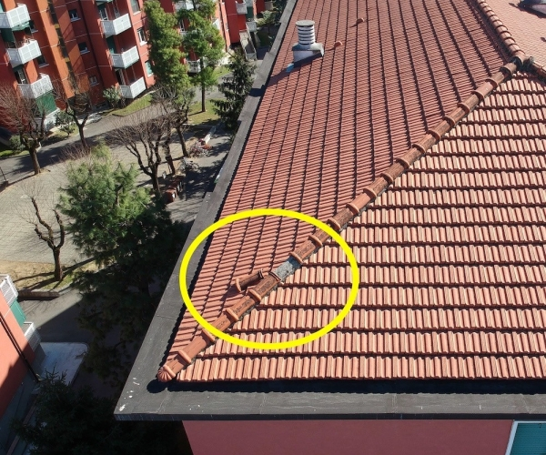 Controllo Semestrale con Drone di Tetti e Tegole