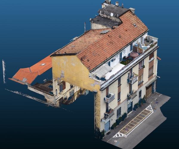 Rilievo con Drone di un Condominio milanese per il Bonus 110%