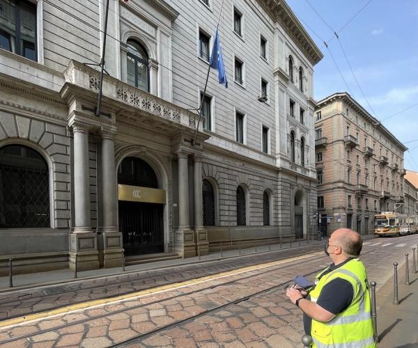 Rilievo architettonico con Drone della Camera di Commercio di Milano