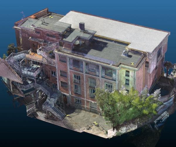 Rilievo di Edificio (e contesto) con Drone e Laser Scanner
