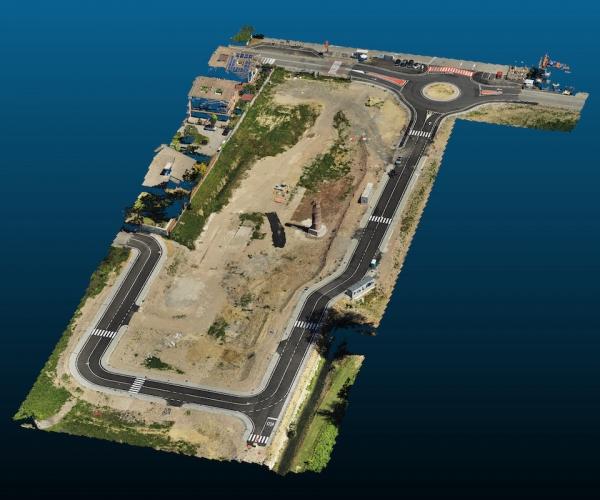Rilievi Terreno di un Cantiere Edile con Drone
