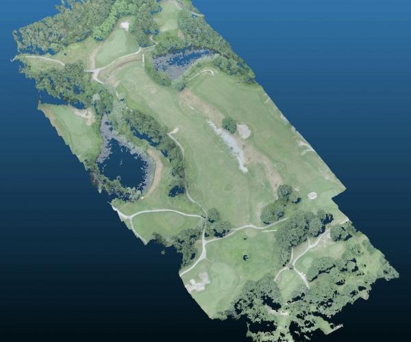 Rilievo con Drone del terreno di un Campo da Golf