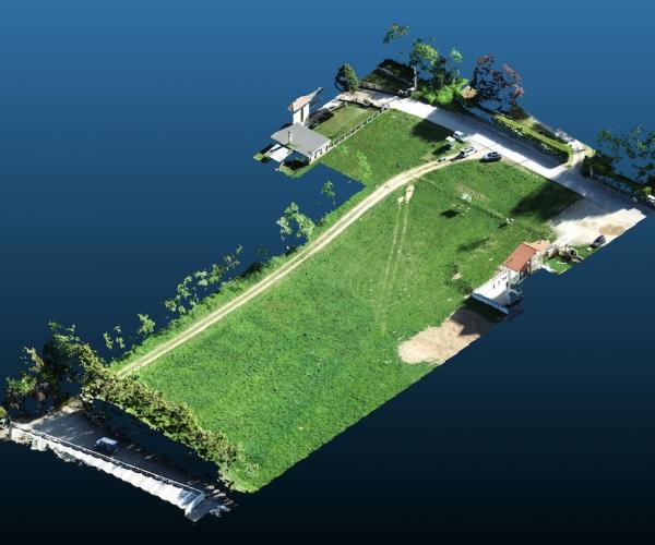Rilievo del Terreno di un Cantiere Edile tramite Drone