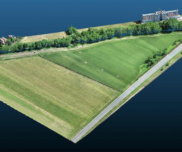 Rilievo (Nuvola di Punti) di un Terreno edificabile tramite Drone