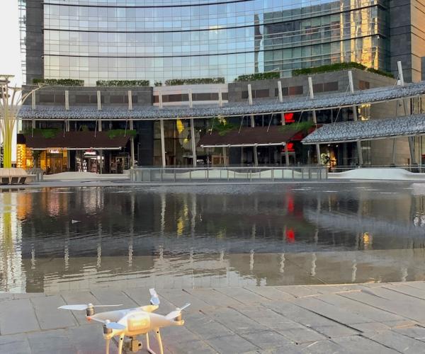 Riprese Aeree con Drone (Milano, Piazza Gae Aulenti)