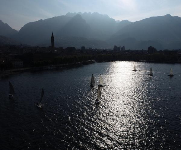 Riprese Aeree con Drone di una Regata sul Lago di Como