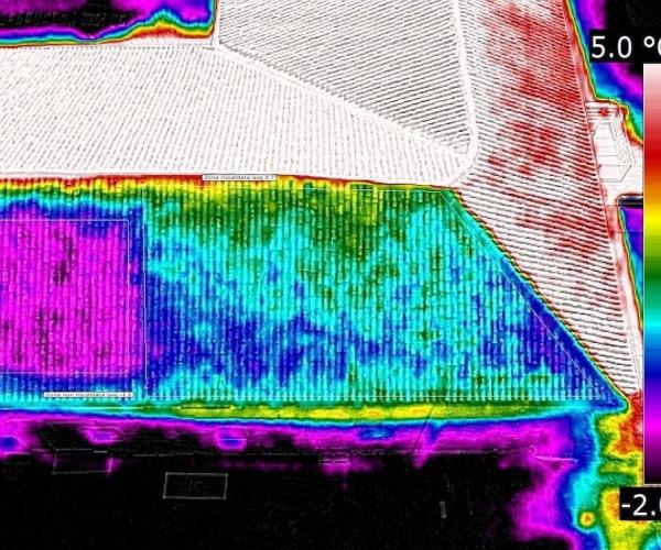 Termografia con Drone per Analisi Dispersione del Tetto